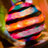 Abstract of spinning light ball — Stock Photo