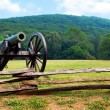 Civil War era cannon overlooks Kennesaw Mountain National Battlefield Park — Stock Photo #9906965