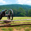 civil war era cannon overlooks kennesaw mountain national battlefield park — Stock Photo