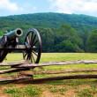 Civil War era cannon overlooks Kennesaw Mountain National Battlefield Park — Stock Photo