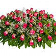 Colorful casket cover flower arrangement — Stock Photo #9937310