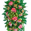 Colorful flower arrangement wreath for funerals isolated on white — Stock Photo #9937322