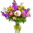 Colorful flower arrangement isolated on white.  — 图库照片