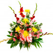 Colorful flower arrangement isolated on white.  — Stockfoto