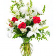 Colorful flower arrangement isolated on white. — Zdjęcie stockowe #9937338