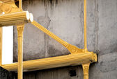 Concrete and painted yellow beam — Stock Photo