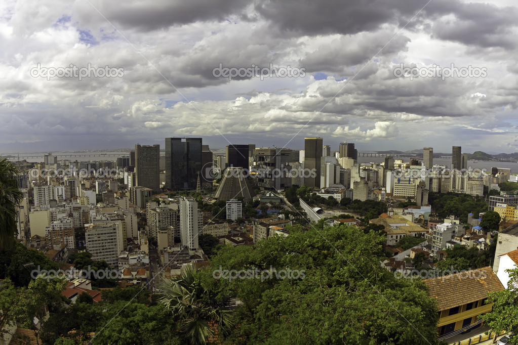View of Downtown Business Center in Rio De Janeiro — Stock Photo #10066095