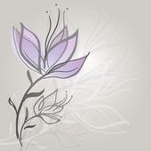 Flower sketch — Stock Vector