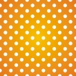 Polka dots on gradient sunny background retro seamless vector pattern — ストックベクタ