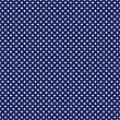 vektor seamless mönster med vita prickar på retro marinblå bakgrund — Stockvektor
