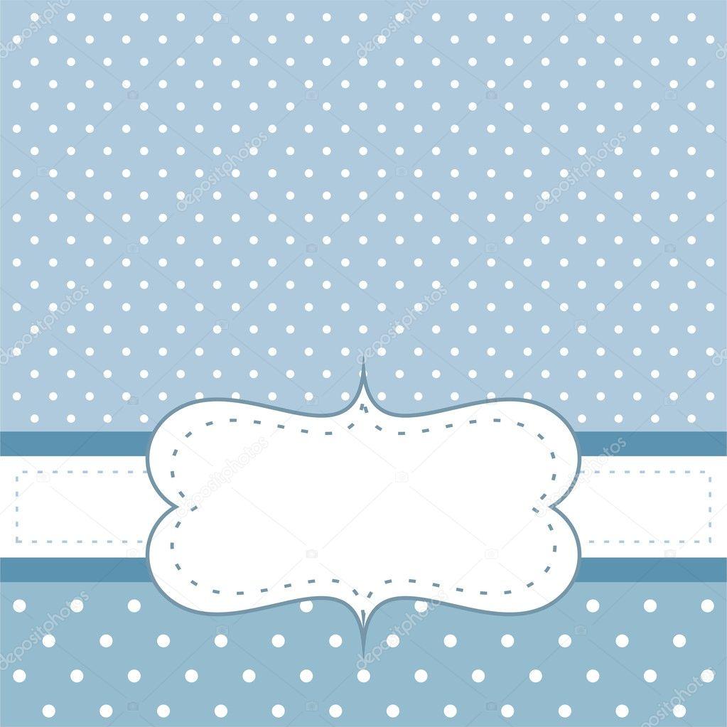 Dulce Azul Lunares Vector Cumplea 241 Os Fiesta Tarjeta O
