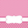 Royalty-Free Stock Vector Image: Sweet, baby pink polka dots vector card or invitation