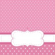 Sweet, baby pink polka dots vector card or invitation — Stock Vector #8797856