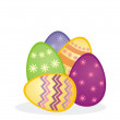 Easter eggs colorful vector composition — Stock Vector