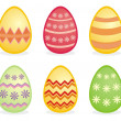 Easter eggs traditional colorful vector icons — Stock Vector