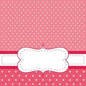 Sweet, red polka dots vector card or invitation — Stock Vector