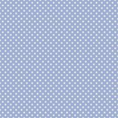 Polka dots on baby blue background - retro seamless vector pattern — Stock Vector