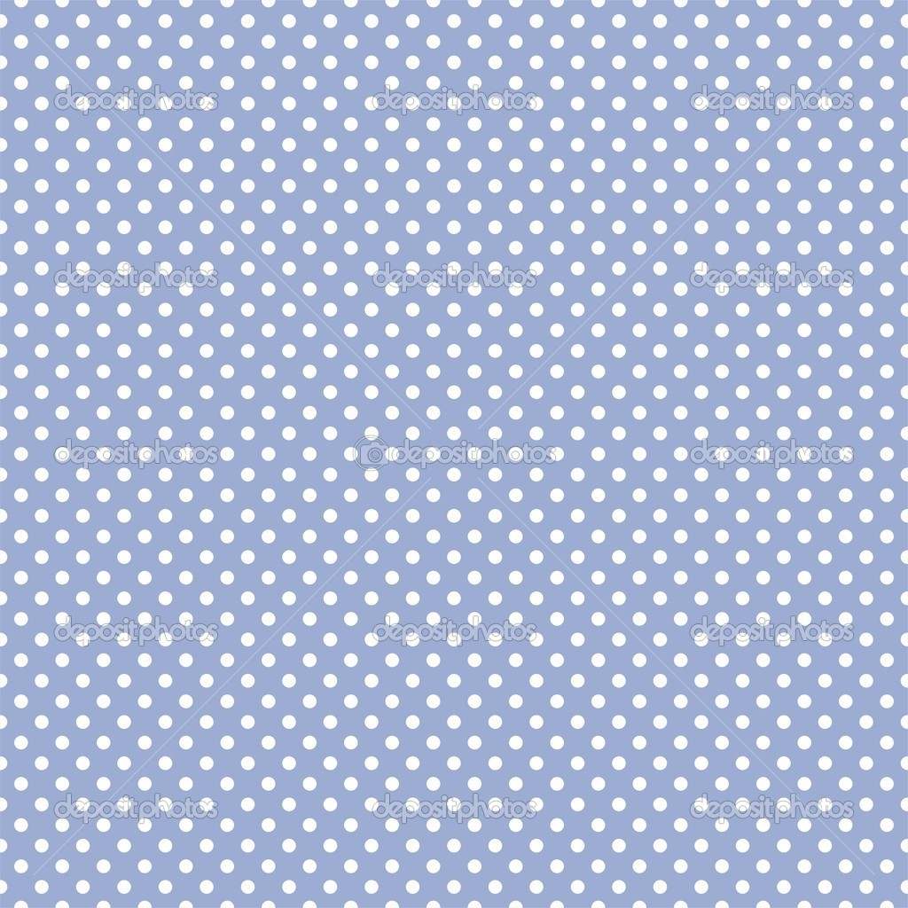Vector seamless pattern with white polka dots on a pastel blue background. For cards, albums, backgrounds, arts, crafts, fabrics, decorating or scrapbooks. — Stock Vector #9656282