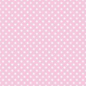 Polka dots on baby pink background retro seamless vector pattern — 图库矢量图片