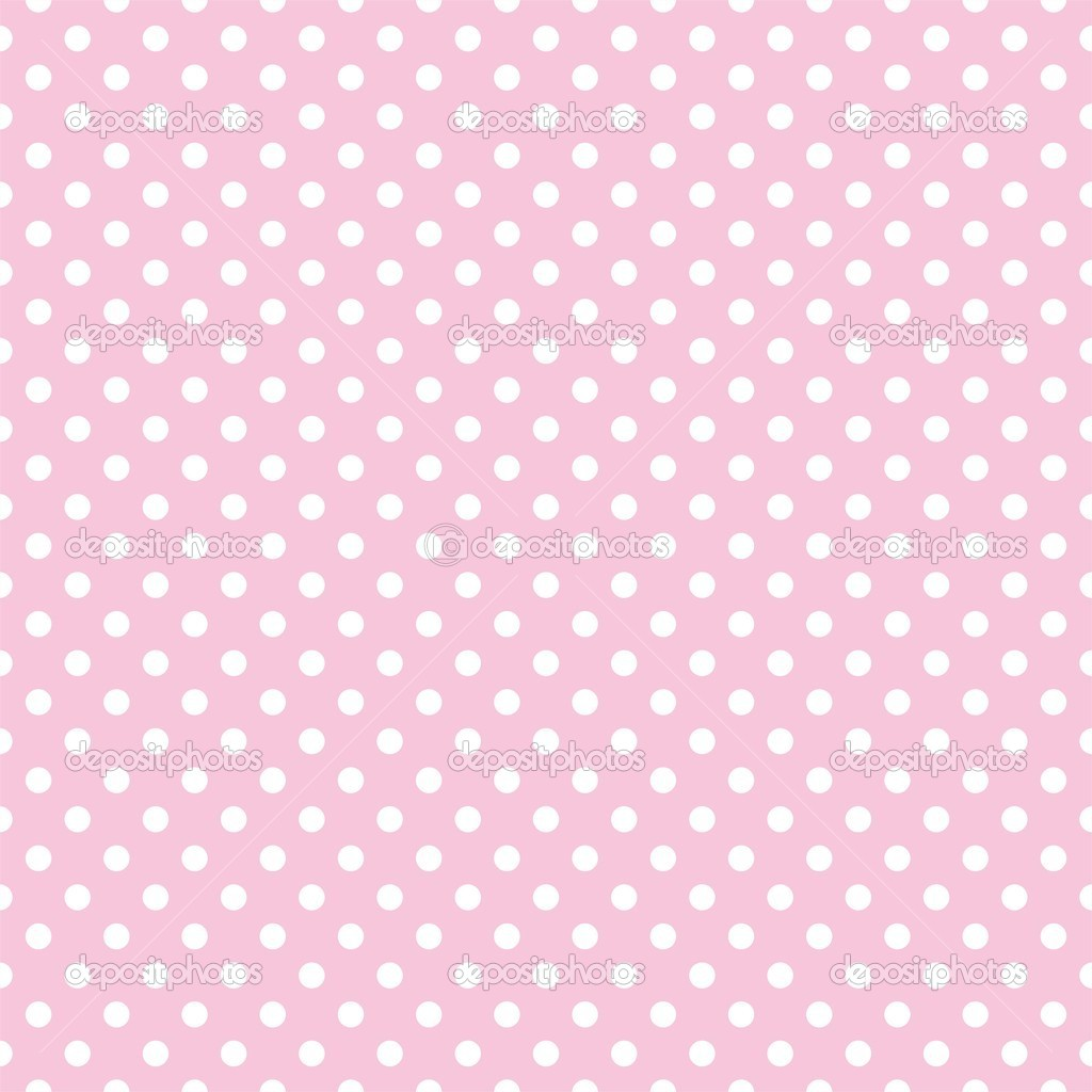 Vector Seamless Pattern With Small White Polka Dots On A Pastel Pink
