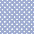 Royalty-Free Stock Vector Image: Sweet polka dots on baby blue background - retro seamless vector pattern