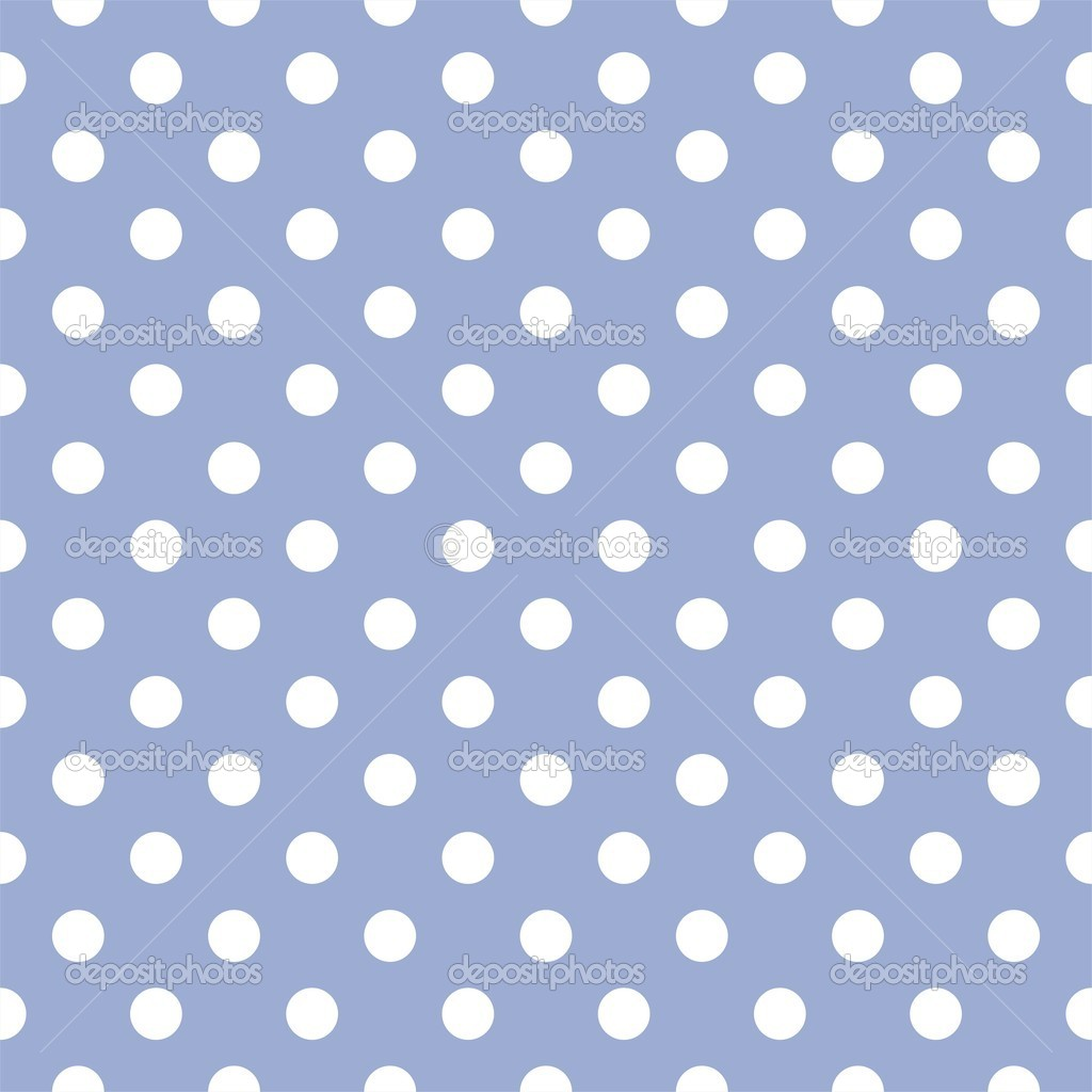 Vector seamless pattern with white polka dots on a sweet pastel blue background. For cards, invitations, wedding, baby shower, albums, backgrounds, arts, decorating or scrapbooks. — Stock Vector #9689706