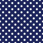 vektorové bezešvé vzor s puntíky na retro tmavě modré pozadí — Stockvektor
