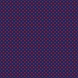 Vector seamless pattern with red polka dots on retro navy blue background — Vector de stock