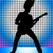 Guitarist — Stock Vector
