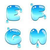 Water Bead Font Type — Stock Vector