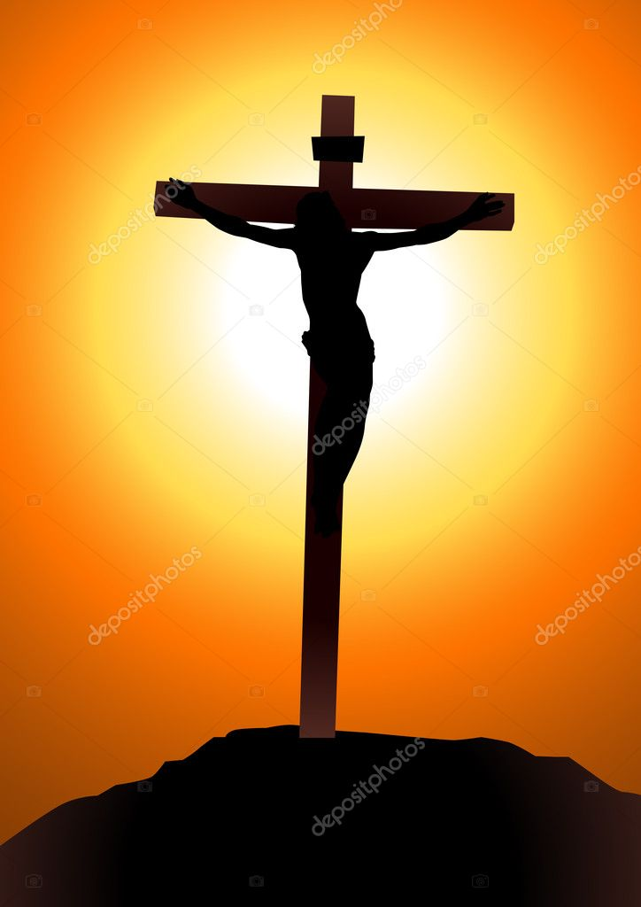 Vector illustration of Jesus Christ on the cross  — Stock Vector #9454498