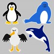 Antarctica Animals — Image vectorielle