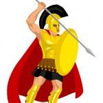 The God Of War — Stock Vector #9917540
