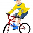 Riding a Bicycle — Stock Vector