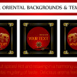 Oriental backgrounds and templates - Stok Vektör