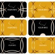 Business cards collection - Imagens vectoriais em stock