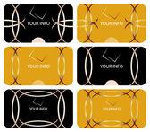 ビジネス カード コレクション — ストックベクタ
