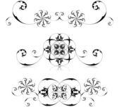 Set di cornici floreali — Vettoriale Stock