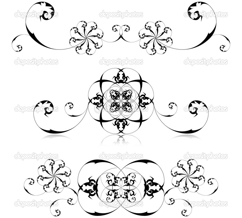 Vector illustration of floral decoration.  Stock Vector #8499996