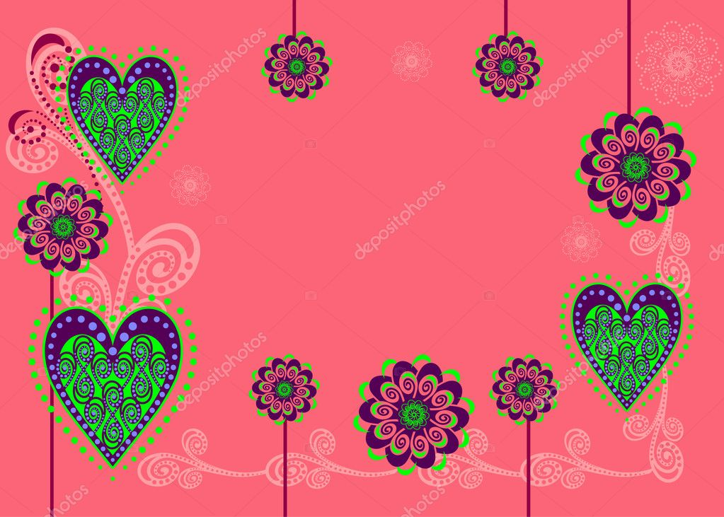 Vector illustration with cute decoration and design elements.  Stock Vector #8499998