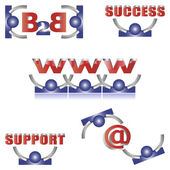 логотипы & иконки набор — Cтоковый вектор
