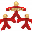 3D group of support — Stockfoto
