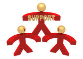 3D group of support — Foto Stock