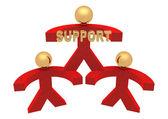 3d-groep van de steun — Stockfoto
