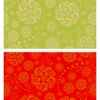 Floral oriental seamless patterns — Stock Vector