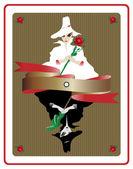 Siyah-beyaz sihirli kart — Stok Vektör
