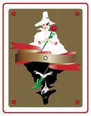 Zwarte en witte magie kaart — Stockvector