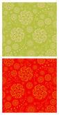 Blommiga orientaliska seamless mönster — Stockvektor