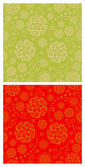 Floral oriental seamless patterns — Vecteur