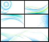 Abstract blue backgrounds set — Vector de stock